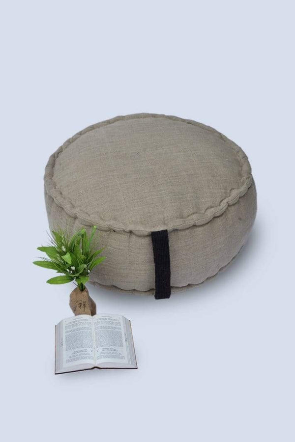 ASTRA - CYLINDRICAL POUF-BEIGE - ART AVENUE
