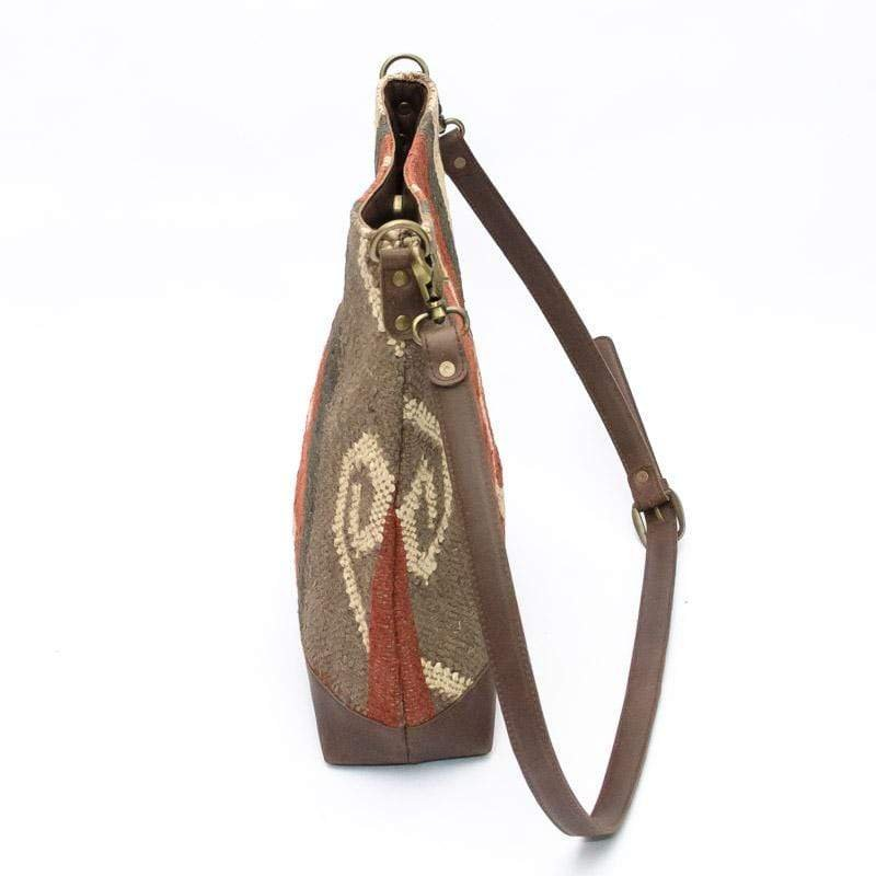 AUSTERE - KILIM & LEATHER HAND BAG - ART AVENUE