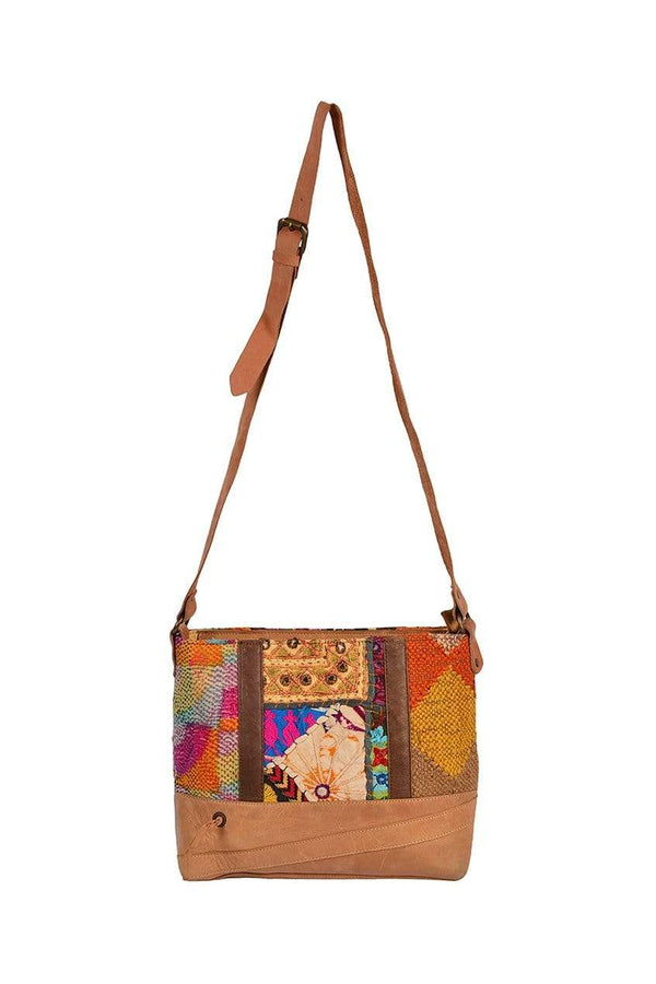 BAFFLE - PATCHWORK SLING BAG - ART AVENUE