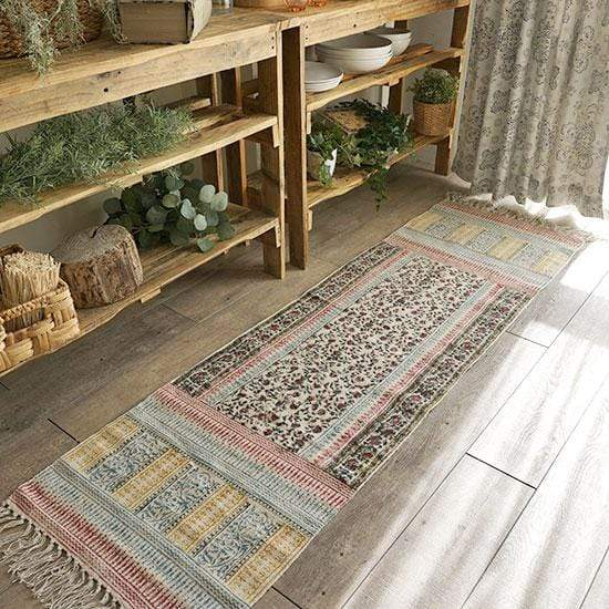 BANJUL- BLOCK PRINTED FLOOR RUNNER - MULTI - ART AVENUE