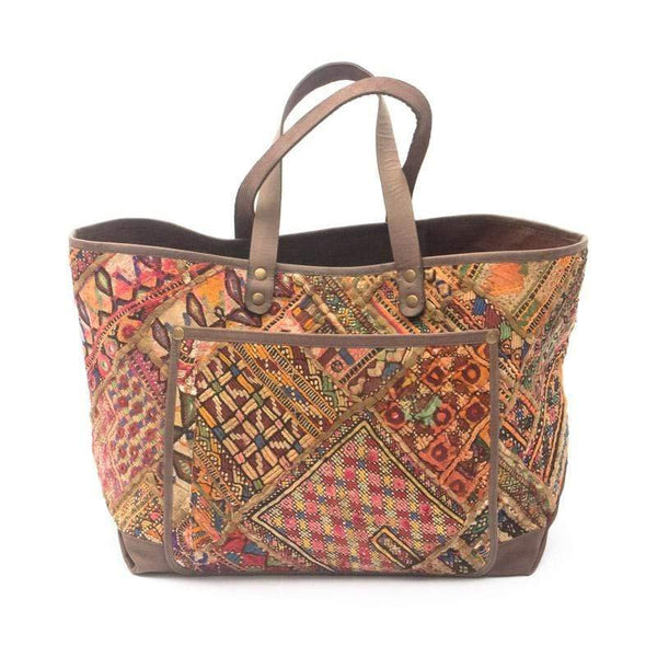BARREN - VINTAGE FABRIC PATCHWORK HAND BAG - ART AVENUE