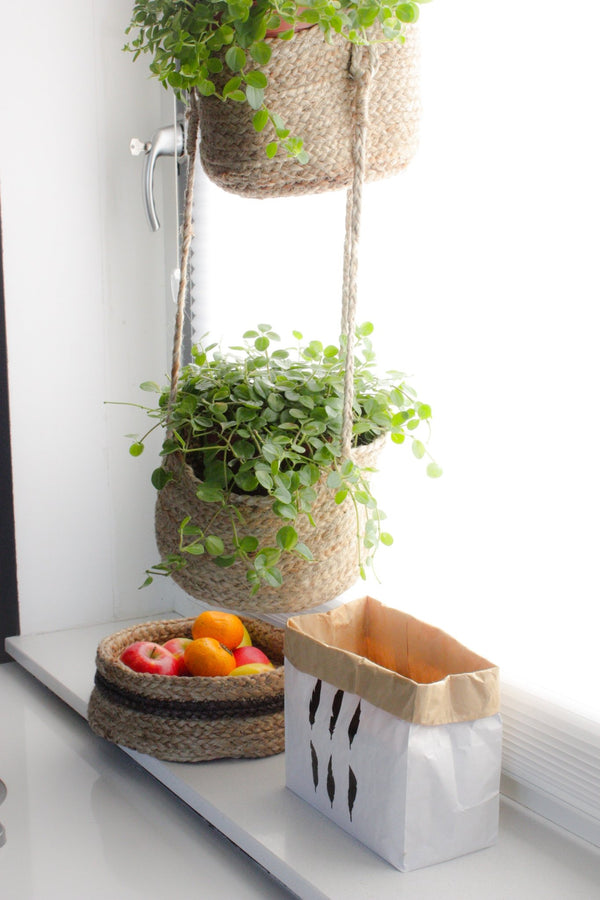 BELAY - HANGING JUTE BaSket - NATURAL - ART AVENUE