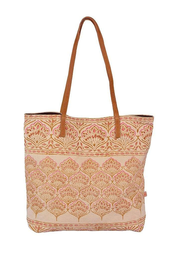 BENZ - BLOCK PRINTED TOTE BAG - ART AVENUE
