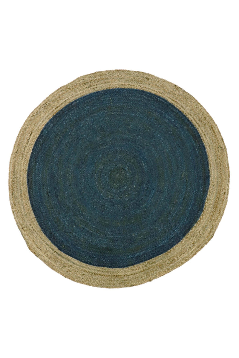 BIG -ROUND RUG - BLUE - ART AVENUE