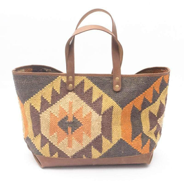BLINK- KILIM & LEATHER HAND BAG - ART AVENUE