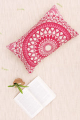 BLOOMY - LUMBAR CUSHION COVER - PINK - ART AVENUE