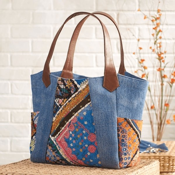 BONAIRE - PATCHWORK HAND BAG - ART AVENUE