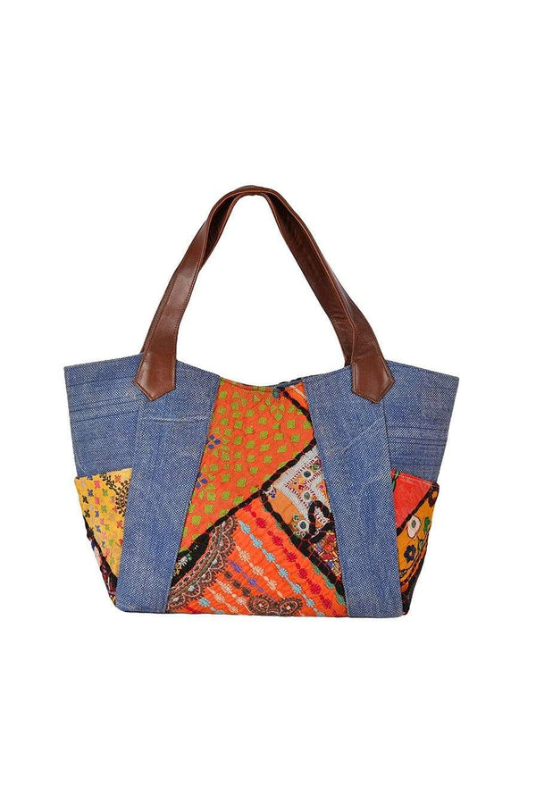 BORNIO - PATCHWORK BAG HAND BAG - ART AVENUE