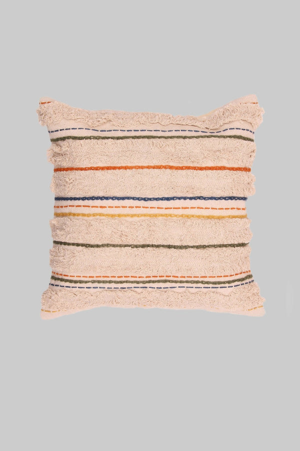 BOW - SQUARE CUSHION COVER - BEIGE - ART AVENUE
