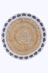 BROAD -ROUND RUG -NATURAL - ART AVENUE
