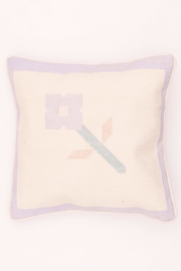 BUD - SQUARE CUSHION COVER - WHITE - ART AVENUE