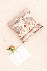 CAMEL - SQUARE CUSHION COVER - IVORY - ART AVENUE