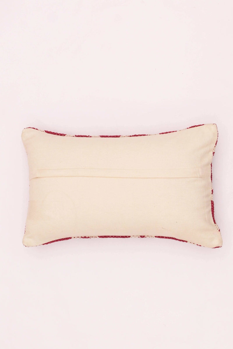 CARMINE - LUMBAR CUSHION COVER - RED - ART AVENUE