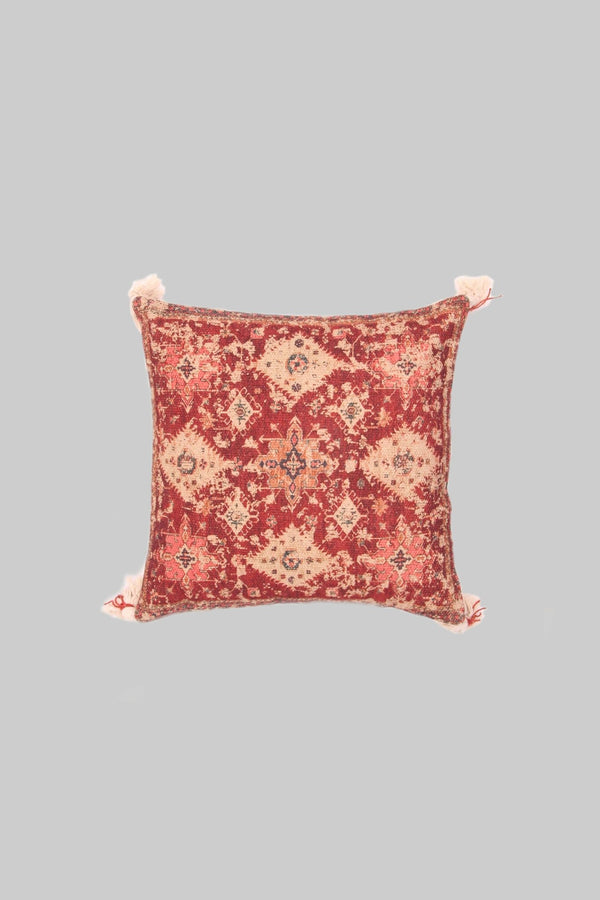 CARROT - SQUARE CUSHION COVER - RUST - ART AVENUE
