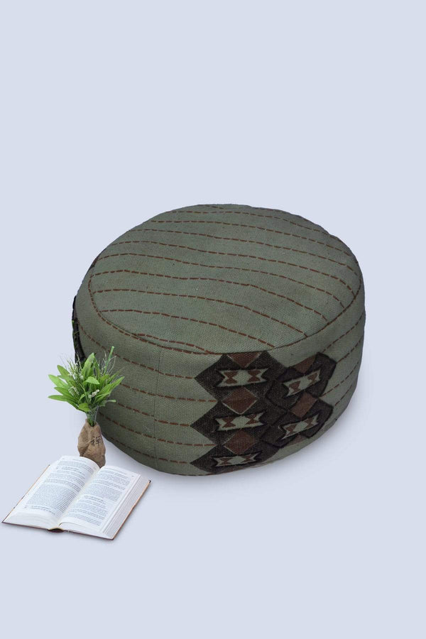 CORNY - CYLINDRICAL POUF-GREEN - ART AVENUE