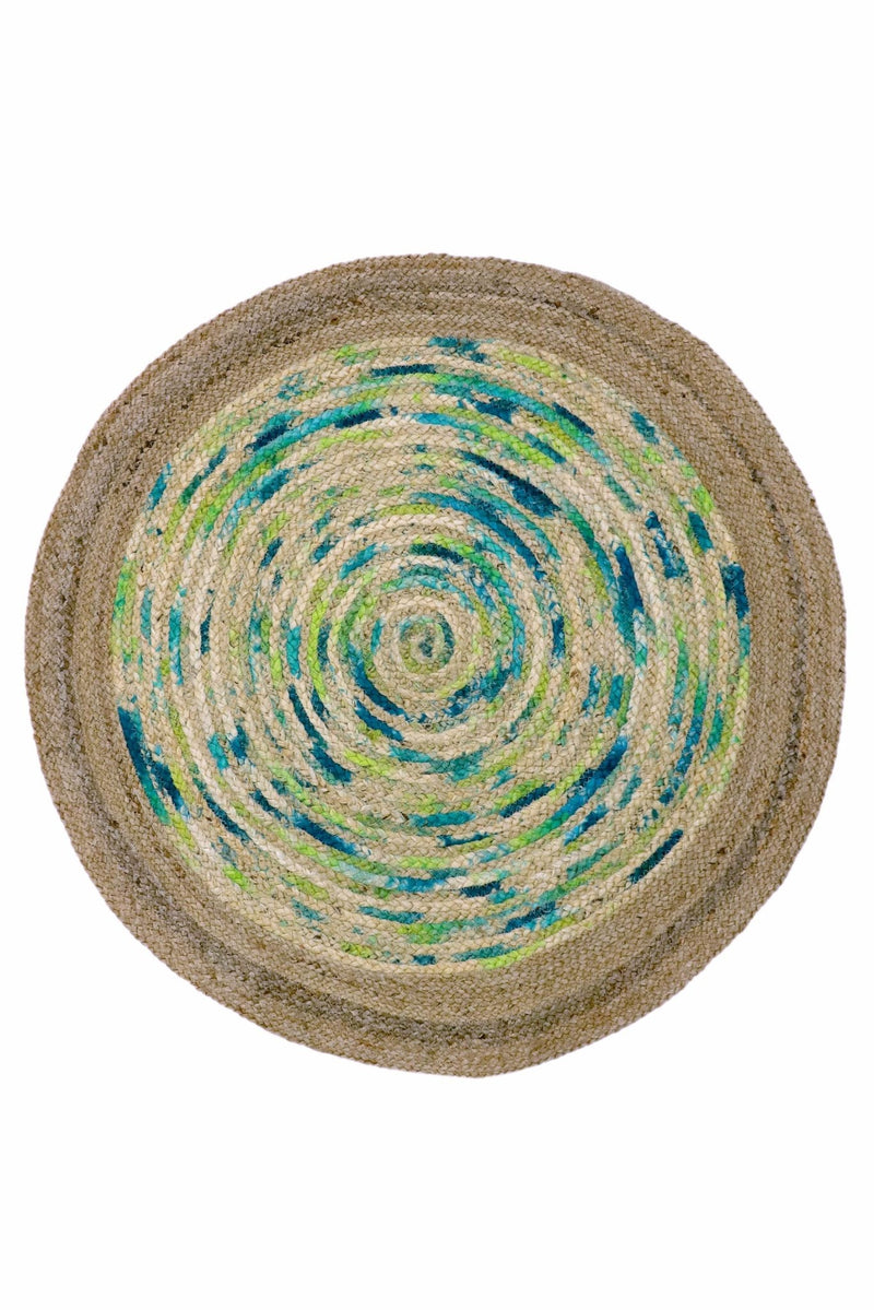 CREED -ROUND RUG -NATURAL - ART AVENUE