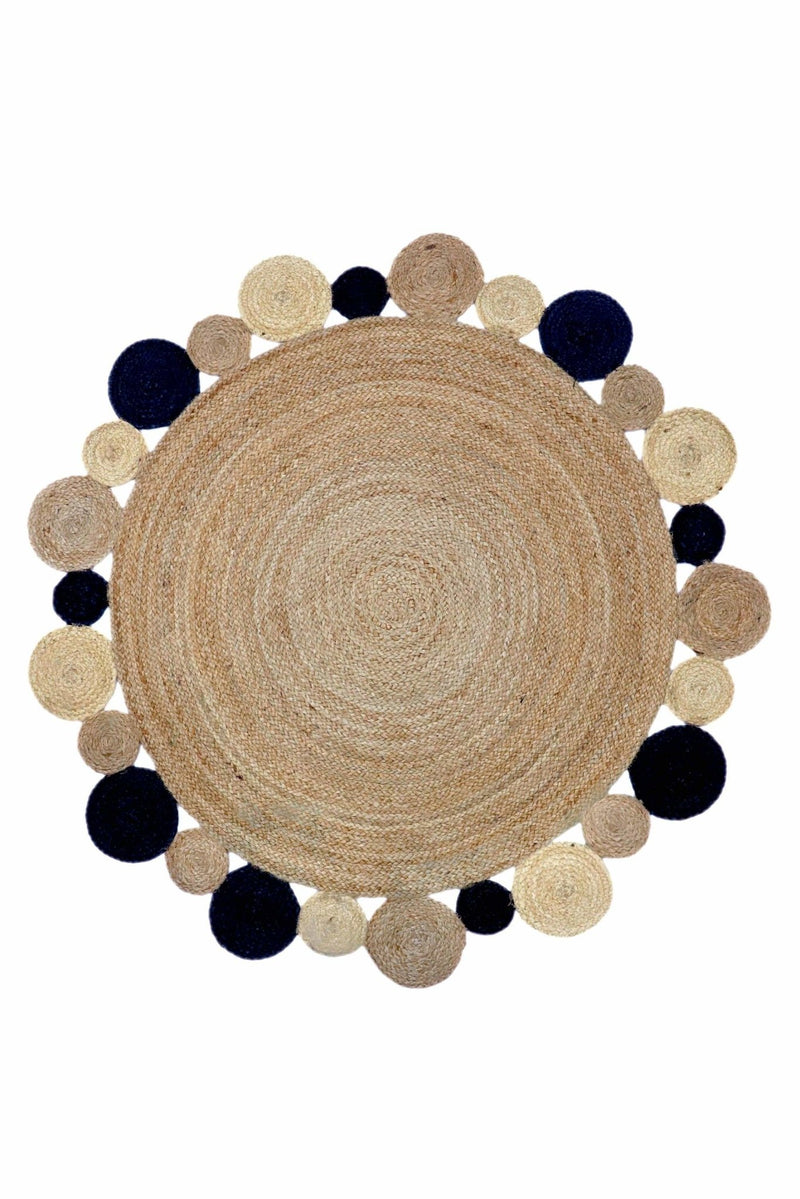 DAM -ROUND RUG -NATURAL - ART AVENUE