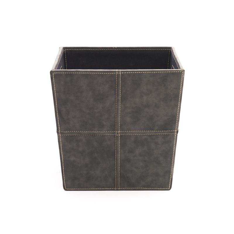 DARCY - LEATHER BIN -DARK GREY - ART AVENUE