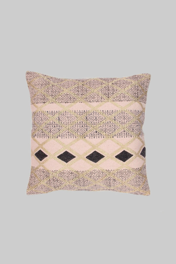DARKER - SQUARE CUSHION COVER -OFF WHITE & BLACK - ART AVENUE