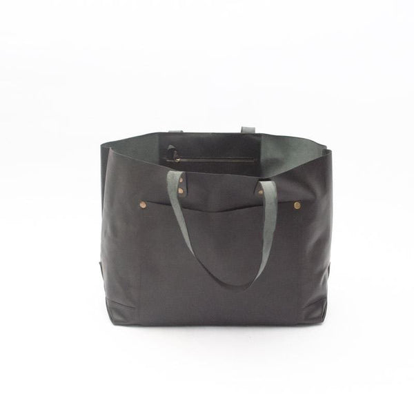 DENSITY- LEATHER HAND BAG- BLACK - ART AVENUE