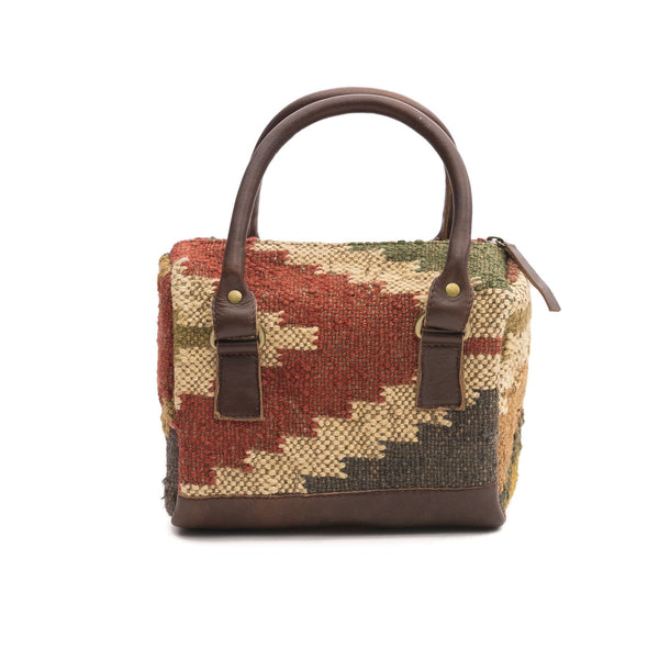 DIGILENT- KILIM & LEATHER DUFFLE BAG - ART AVENUE