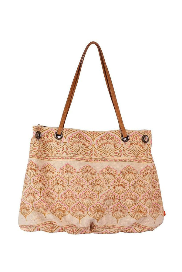 DOMINICA - BLOCK PRINTED HAND BAG - ART AVENUE