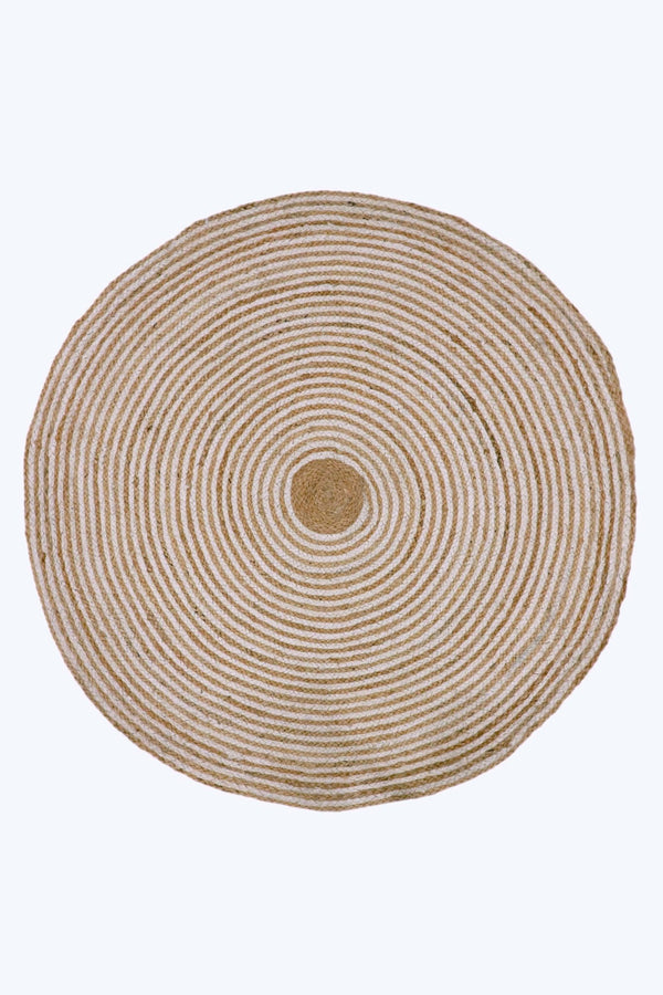 DOT -ROUND RUG -NATURAL - ART AVENUE