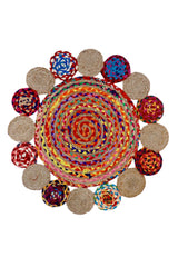 DOUBLE -ROUND RUG -MULTICOLOUR - ART AVENUE