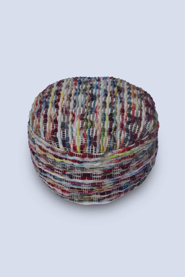 DRUM - CYLINDRICAL POUF-MULTICOLOUR - ART AVENUE