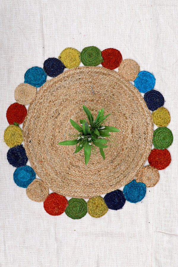 DUSTER -ROUND RUG -NATURAL - ART AVENUE