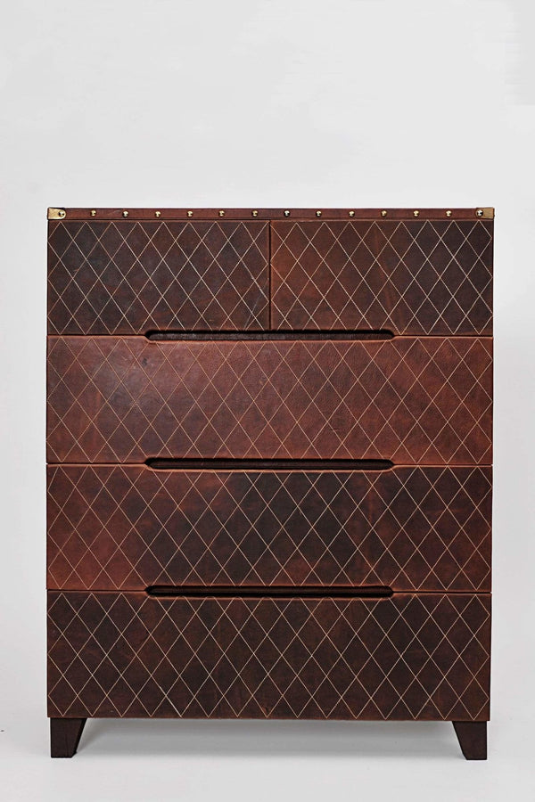 DYNASTY CHEST OF DRAWERS - LEATHER - ART AVENUE