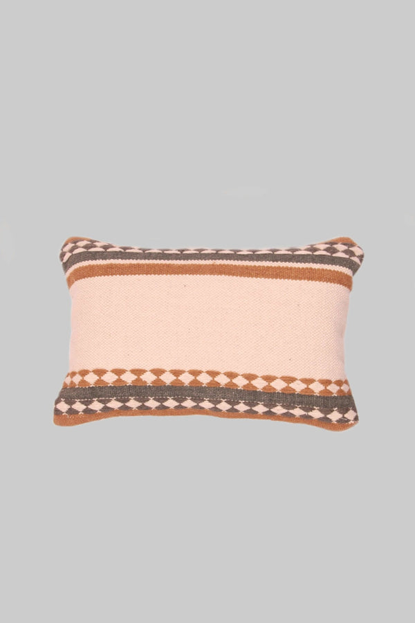 ECRU - LUMBAR CUSHION COVER -IVORY - ART AVENUE