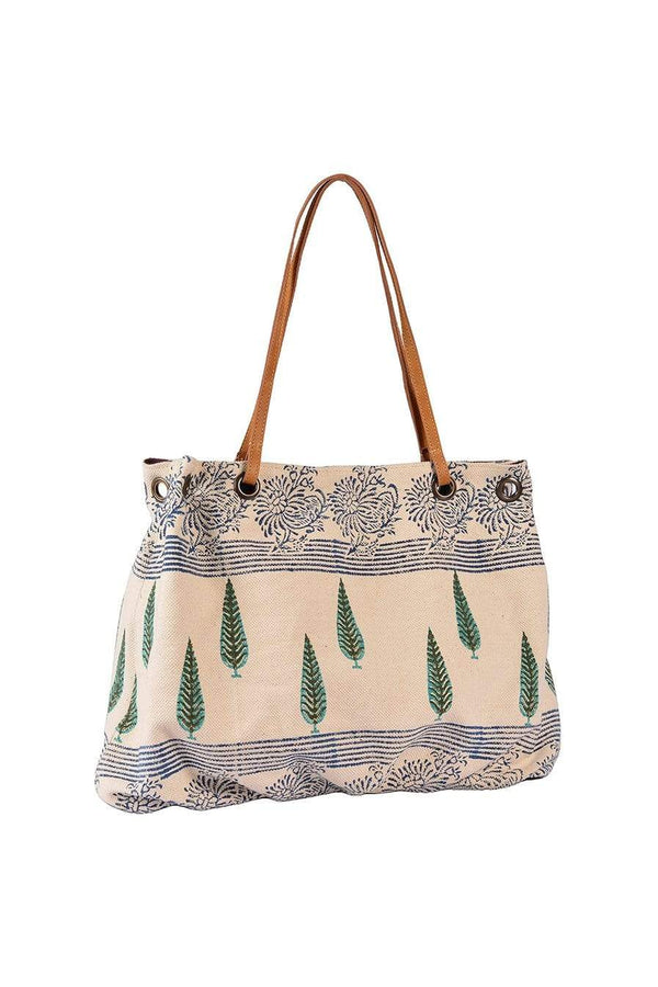 ELBRUS - BLOCK PRINTED HAND BAG - ART AVENUE