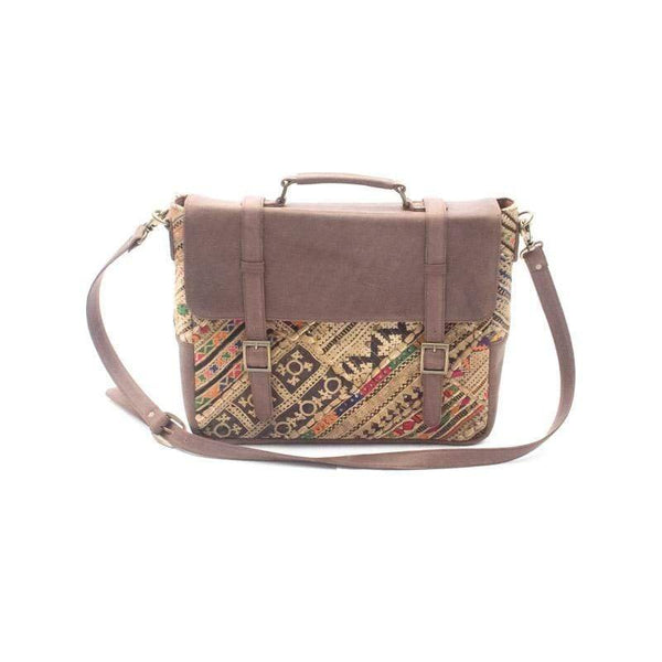 ELEGANT- VINTAGE FABRIC & LEATHER PATCHWORK BAG - ART AVENUE