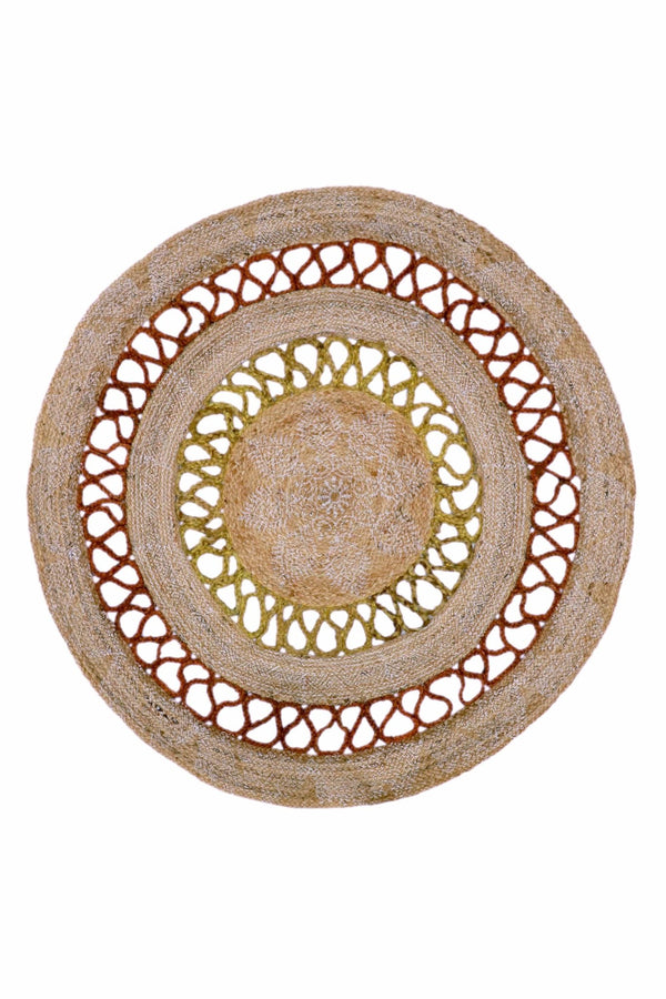 EVENING -ROUND RUG -NATURAL - ART AVENUE