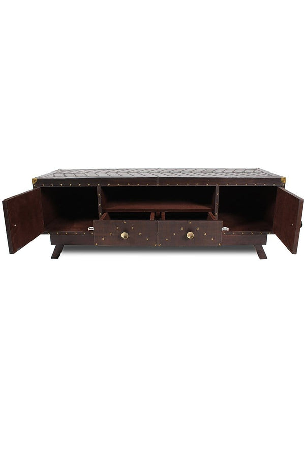 FAIRFIELD TV UNIT - LEATHER - ART AVENUE