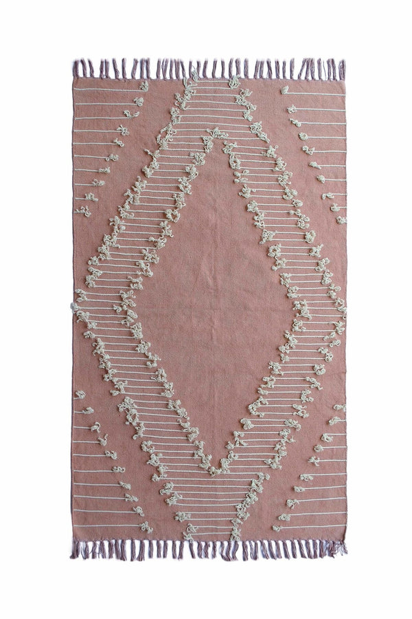 FAIRMONT - OVERDYED HAND EMBROIDERED RUG - LIGHT PINK - ART AVENUE