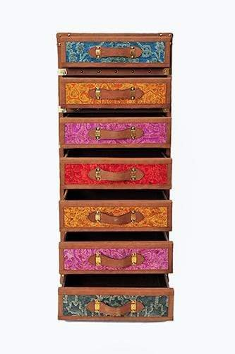 FANTASY CHEST OF DRAWERS - LEATHER AND VELVET - ART AVENUE