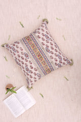 FISHERY - SQUARE CUSHION COVER -OFF WHITE - ART AVENUE