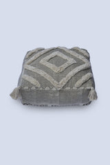FLOOR - CUBICAL POUF-GREY - ART AVENUE