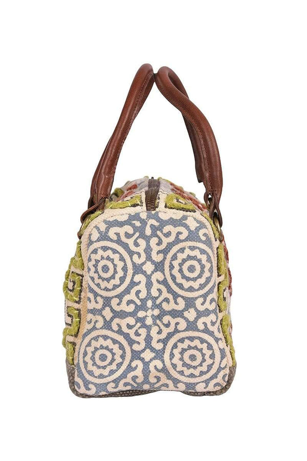 FLORID - BLOCK PRINTED DUFFLE BAG - ART AVENUE
