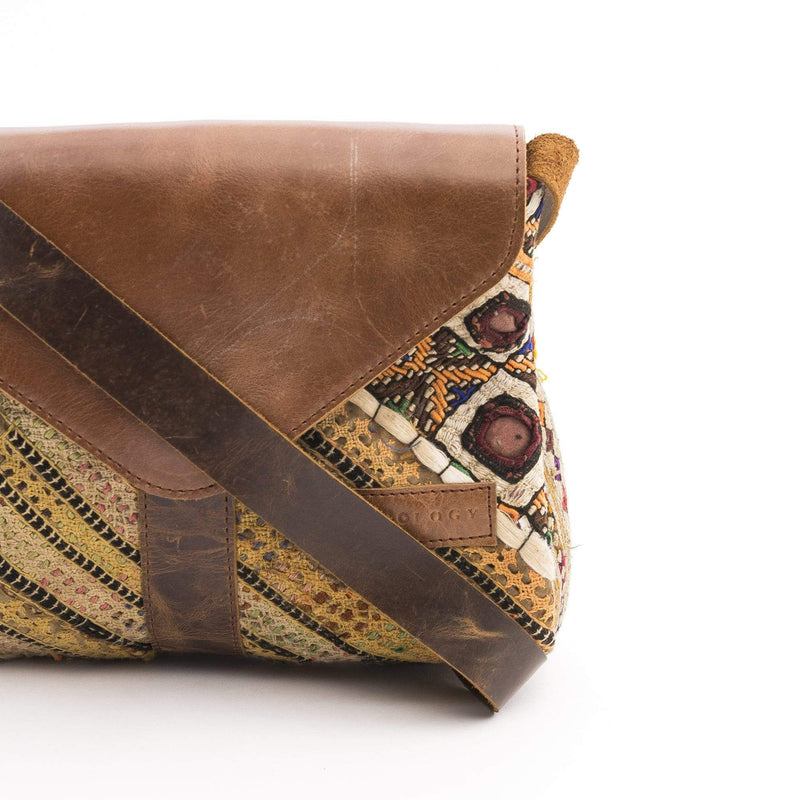 FLOW - PATCHWORK LEATHER SLING BAG - ART AVENUE