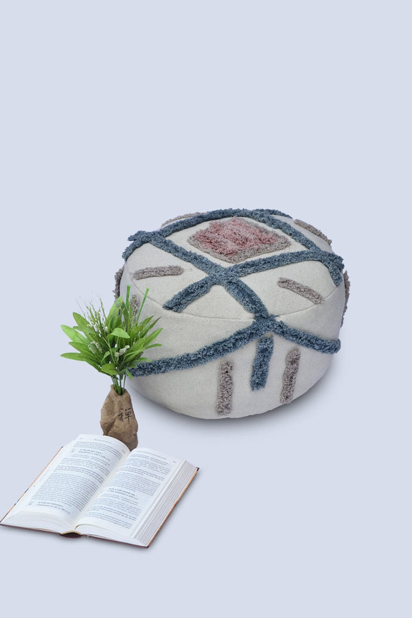 FUTURISTIC - CYLINDRICAL POUF-OFF WHITE - ART AVENUE