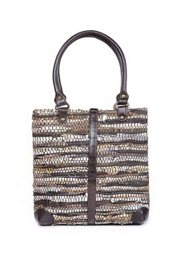 GOLDWATER -LEATHER CHINDI HAND BAG - ART AVENUE