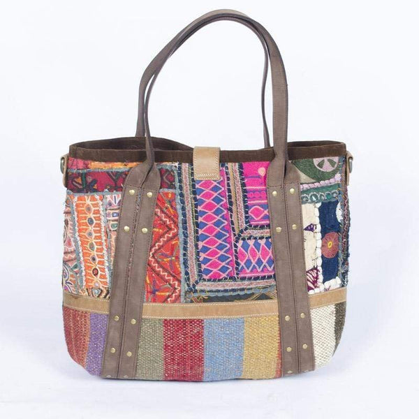 HAPPY - PATCHWORK HAND BAG - ART AVENUE