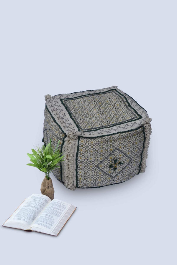 INSIDE - CUBICAL POUF- GREY - ART AVENUE