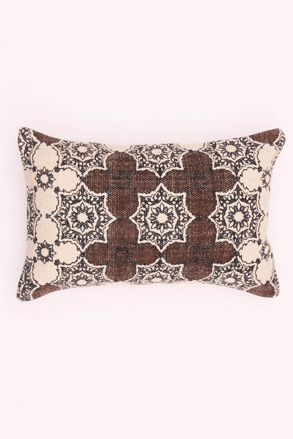 JADE - LUMBAR CUSHION COVER - BROWN - ART AVENUE