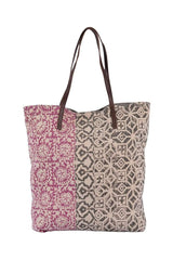 JAVA- BLOCK PRINT TOTE BAG - ART AVENUE