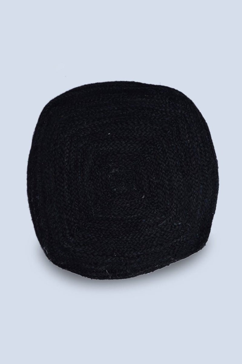 JUTER - CUBICAL POUF- BLACK - ART AVENUE