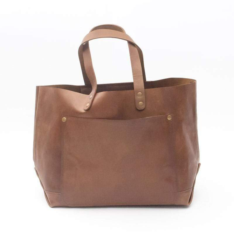 KELLY- LEATHER HAND BAG - BROWN - ART AVENUE